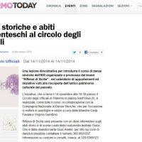Articolo Palermo Today Danze Storiche Costumi Giulia Orsi